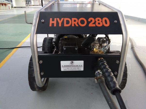 Το Hydro 280 είναι ένα επαγγελματικό μηχάνημα υδροβολής υψηλής πίεσης νερού,σχεδιασμένο και κατασκευασμένο για χρήση κάτω από τις πιο σκληρές συνθήκες.